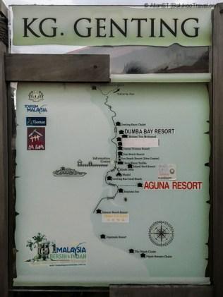 Map of Kampong Genting (Tioman Island, Malaysia)