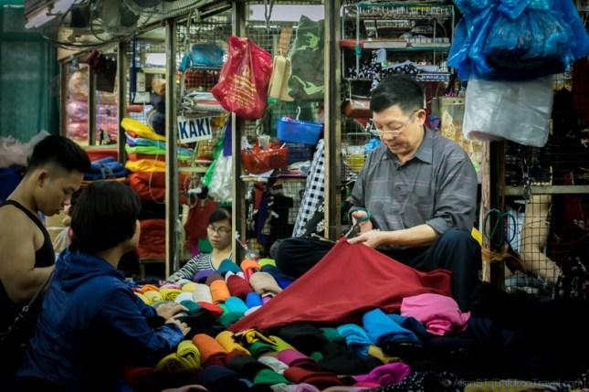 Retailer in Dong Xuan Market (Hanoi, Vietnam)