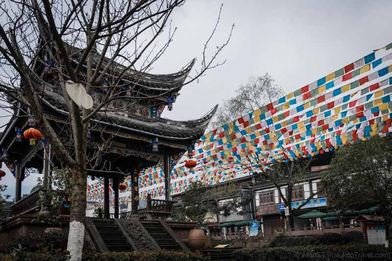 A restored pavilion in ShuiMoZhen (水磨镇) (Sichuan, China) (Mar-2017)