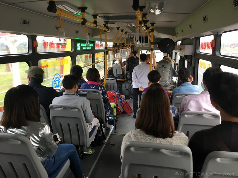 Transport from Noi Bai Airport to Hanoi City (Bus 86)