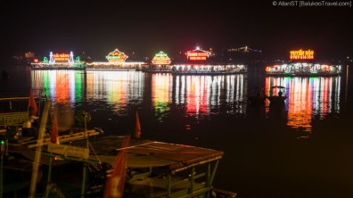 Floating seafood restaurants off Cat Ba town (Vietnam)