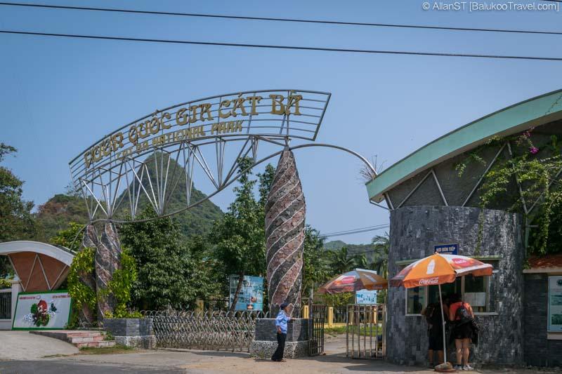 Main Entrance to Cat Ba National Park (Vietnam)