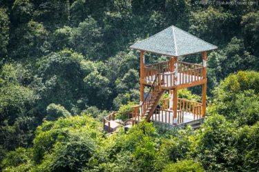 Viewing tower along hike to Ngu Lam Peak (Cat Ba National Park,