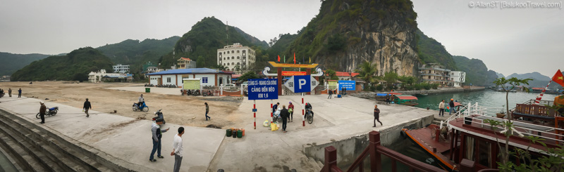 Jetty on Cat Ba Island for cruises departing for Ha Long Bay and Lan Ha Bay (Vietnam)