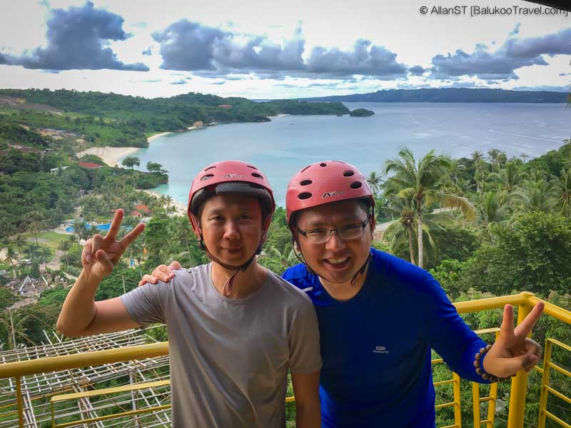 My buddy and i at Happy Planet Zipline + Cable Car, Boracay (Philippines) @Sep2017