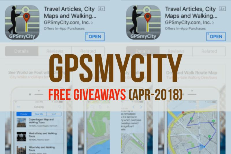 GPSmyCity: Free Giveaway Apr-2018 - Balukoo Travel Blog