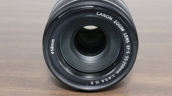 Used Canon EF-S 55-250mm 1:4-5.6 IS II Lens Front Element