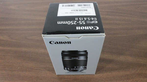 Used Canon EF-S 55-250mm 1:4-5.6 IS II Lens Box