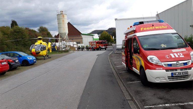 Rettungshubschrauber nahm Patienten auf