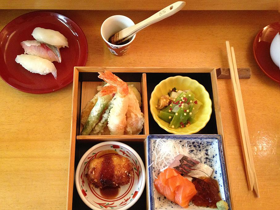 Bizan; sushi; sashimi; bento