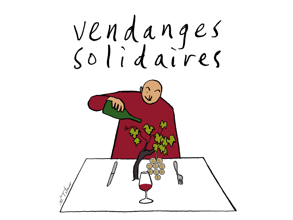 vendanges solidaires; michel Tolmer; soutenons les vignerons; vins; vins natures; vins d'auteur; association; solidarité
