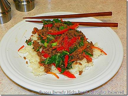 Mongolian Beef Served