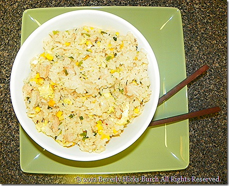 pork and corn fried rice