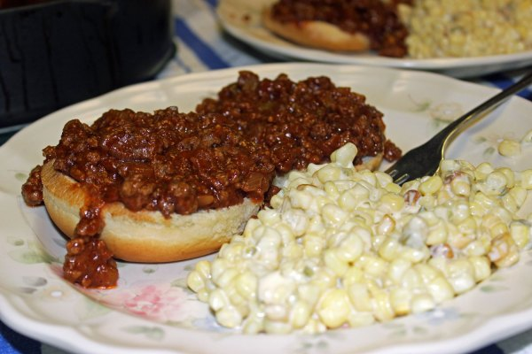 Sloppy Joes with slow cooker Creamy Jalapeno Corn