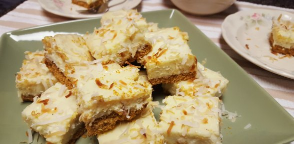 Toasted Coconut and Lime Bars