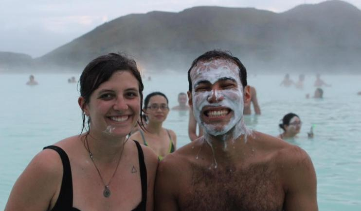 Enjoying the heat from the Blue Lagoon- 2 Weeks in Iceland