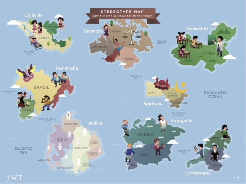 World map heres where you should live based on your personality the stereotype map the stereotype map world map australia canada gumiabroncs Gallery