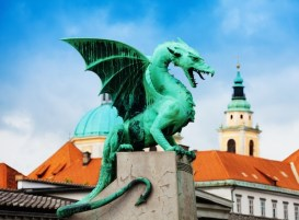 Close shot of the Dragon statue