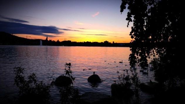 tramonto a zurigo
