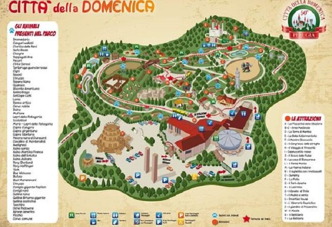 mappa della città della domenica Perugia