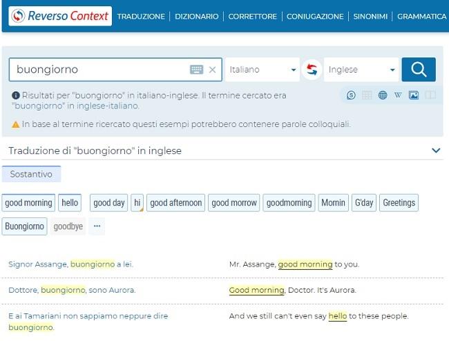 Google Traduttore e Reverso Context