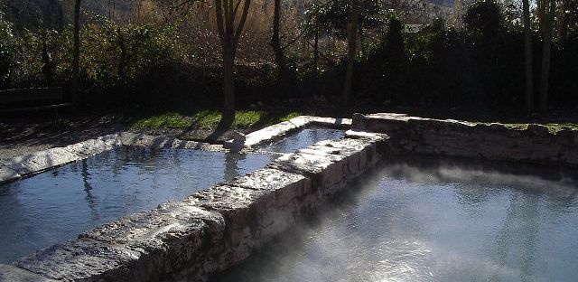 Le vasche di pietra delle terme libere di San Casciano dei Bagni