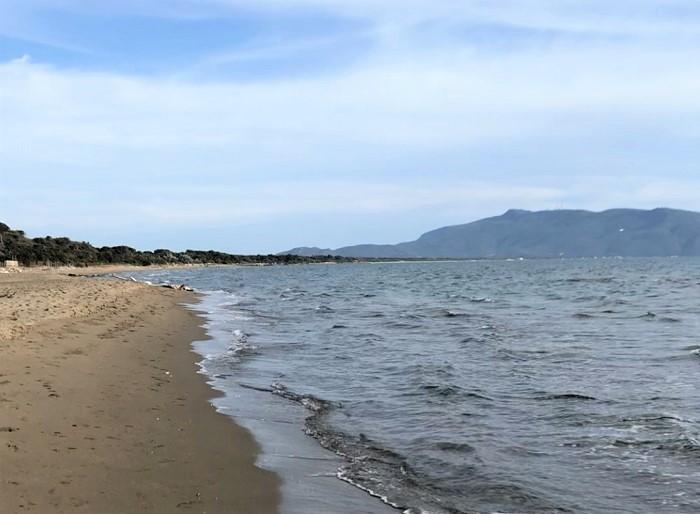 La spiaggia del Camping Village Oasi
