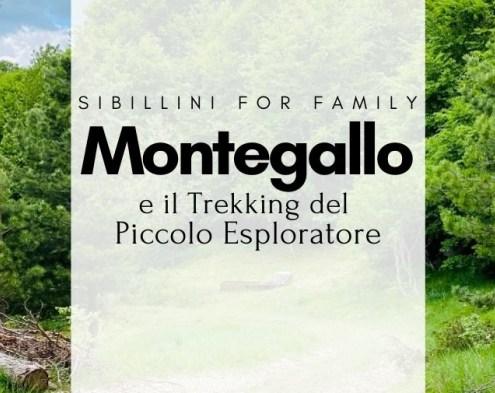 Il trekking per bambini a Montegallo, Ascoli Piceno
