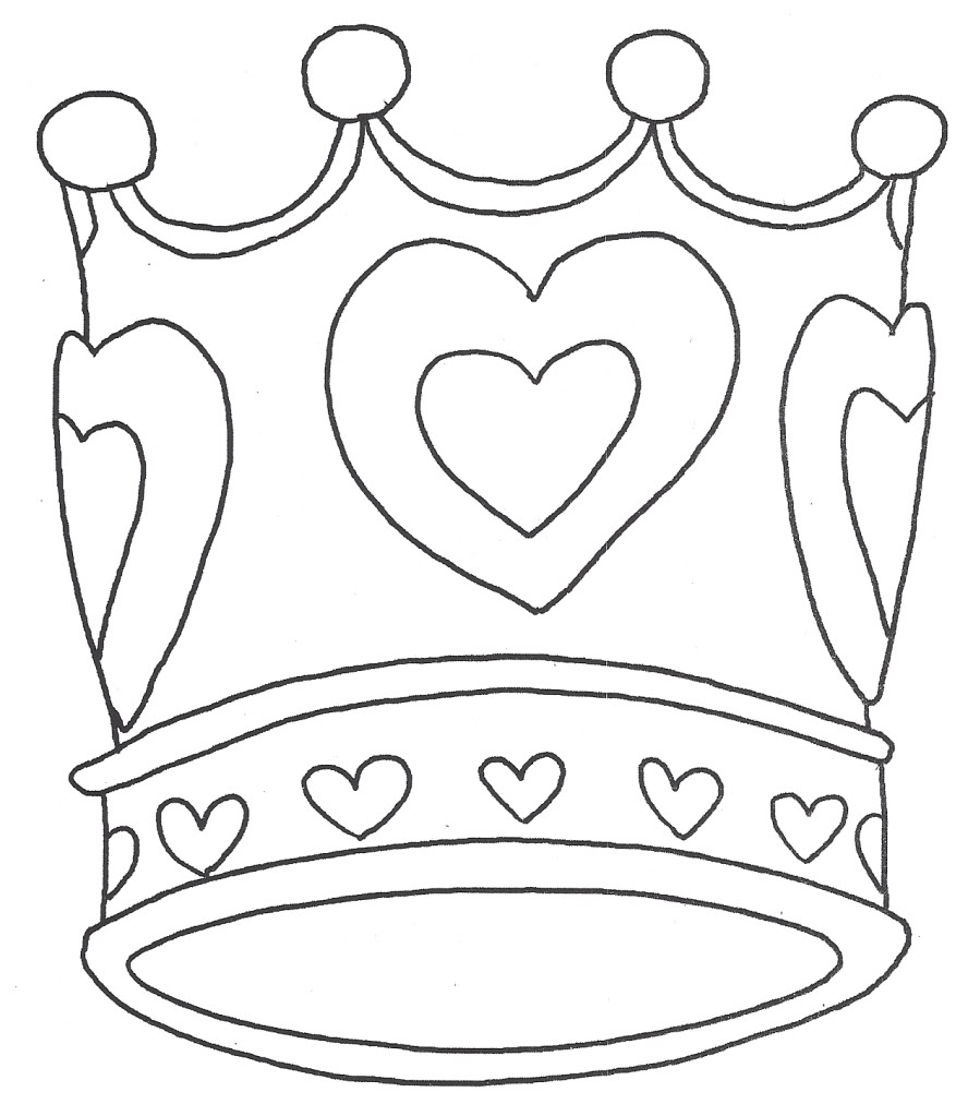 coloring page crown kkuy