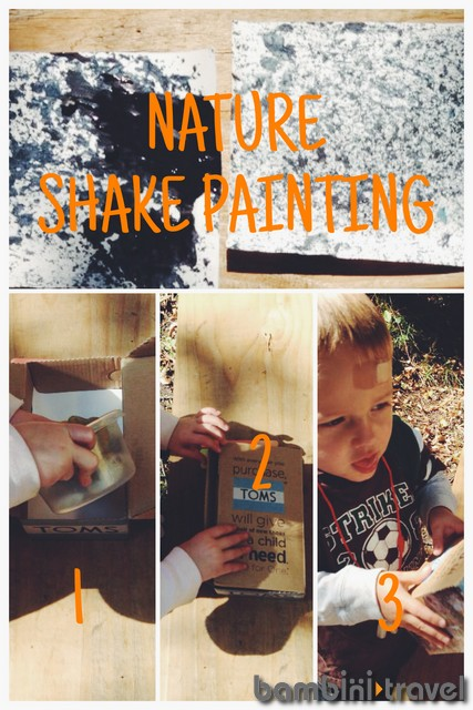 Nature Shake Painting Steps