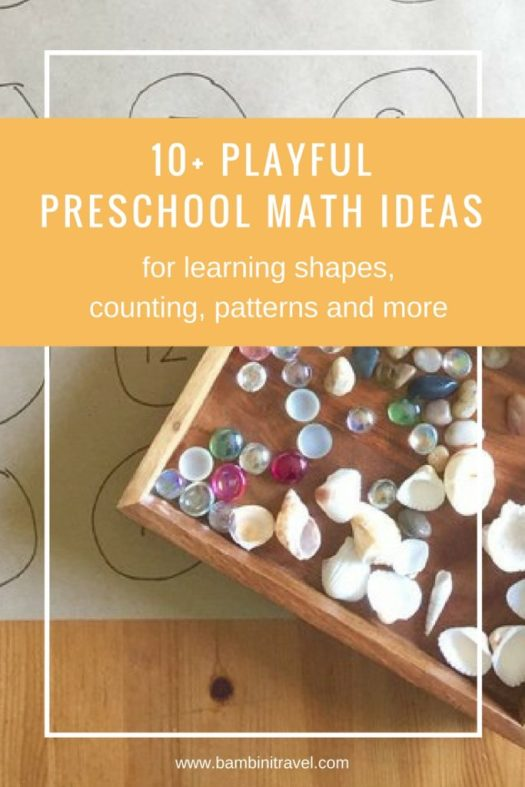 10+ Playful Preschool Math Ideas for learning shapes counting and patterns