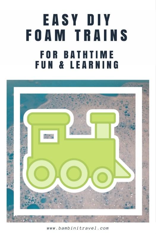 DIY Foam Train for Easy and Fun Bathtime learning
