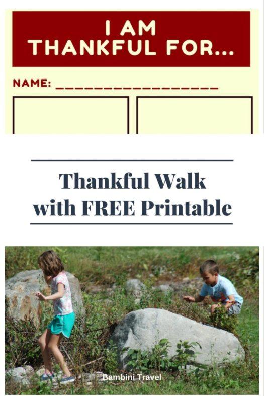 Thankful Walk with FREE Printable
