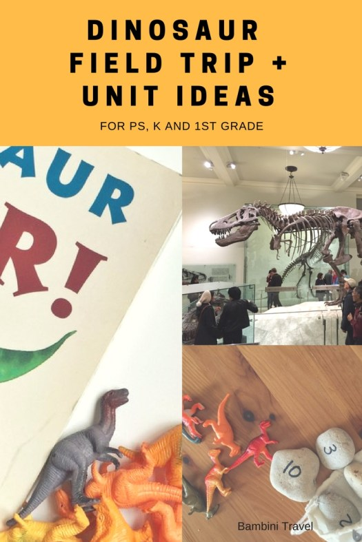 Dinosaur Field Trip Tips and Unit Ideas for Preschool and Early Elementary School
