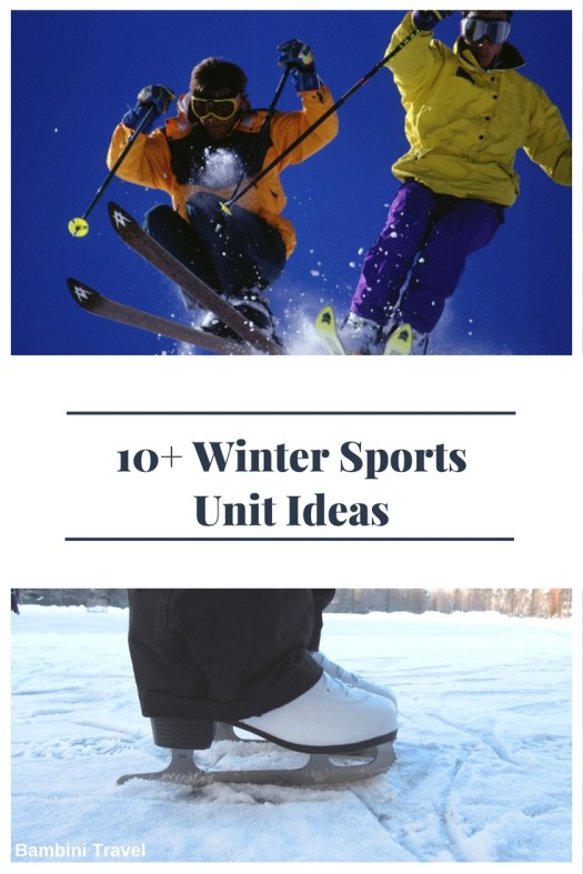 Winter Sports Unit Ideas for Preschoolers and Early Elementary School Kids