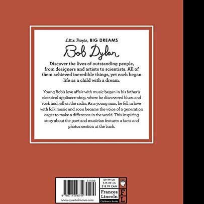 back cover of bob dylan book