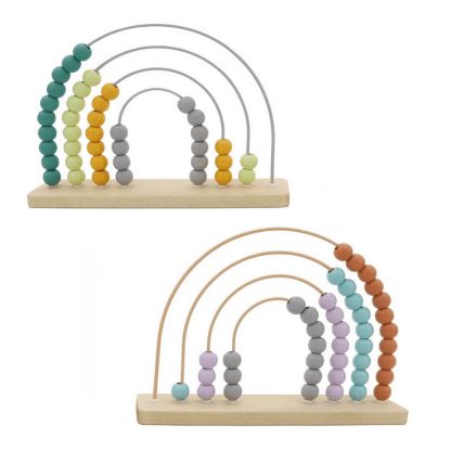 wooden arch rainbow abacus