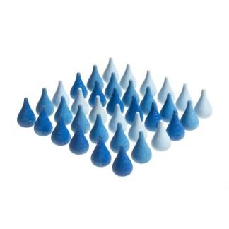 blue raindrops grapat mandala w