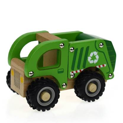 green recycle truck in box