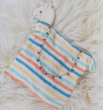 Lilith the Llama Comforter with Rubber Head Teether