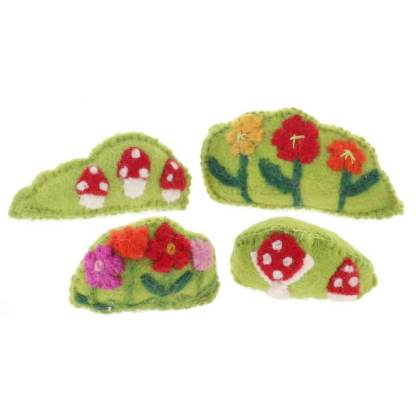 papoose felt bushes and flowers