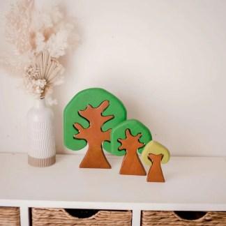 three coloured trees qtoys