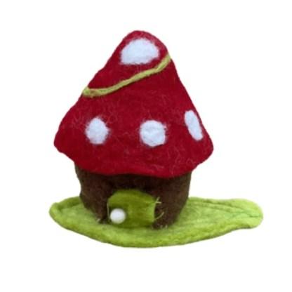 toadstool leaf tiny fairy home
