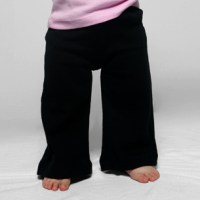 Infant Baby Rib Karate Pant black american apparel
