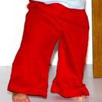 Infant Baby Rib Karate Pant red american apparel