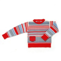 Swint Top - Blue Red and White Stripe