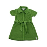 Kik Kid Terry Cotton Summer Dress in Green