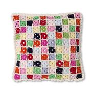 ecru patch cushion from aztec
