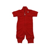 Kik Kid Short sleeved Jumpsuit in Tomato Red