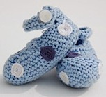 Zaki-do-dah's hand knitted spotty bootees